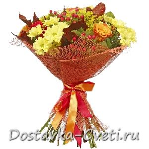 Купить букет хризантем с доставкой по Москве