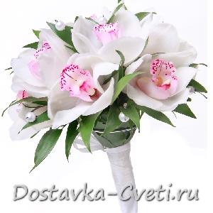 свадебные букеты из орхидей, фото