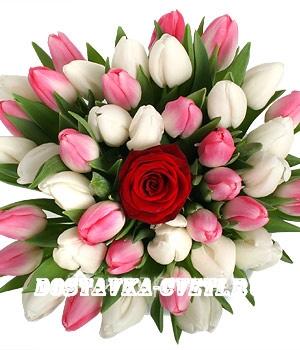 Купить букет тюльпанов с доставкой по Москве