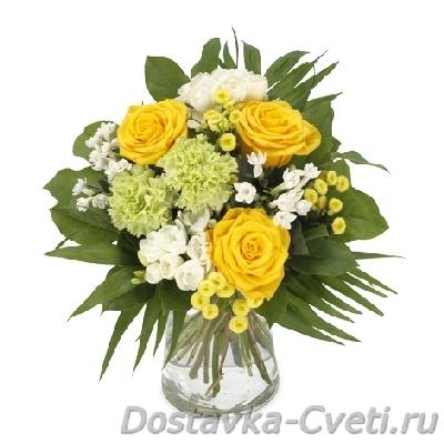 Букет невесты из гербер цветы розы