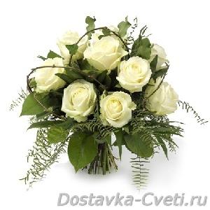из белых орхидей , необычные свадебные